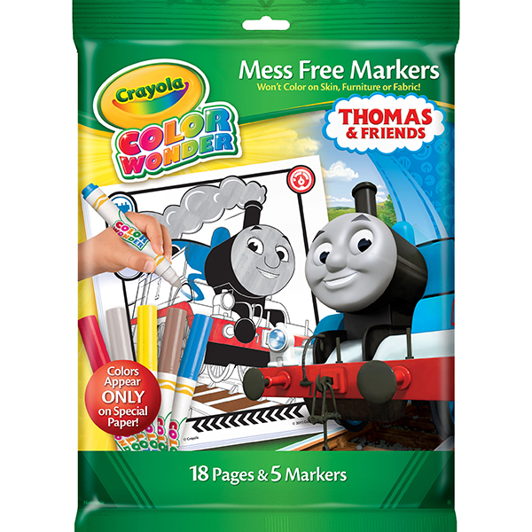 crayola color wonder mess free markers and coloring pad thomas friends front packaging