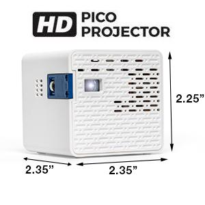 Aaxa hd pico led projector with 150 minute for Hd projector amazon