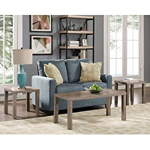 living room table set. Walker Edison 3 Piece Wood Coffee Table Set Amazon com  WE Furniture Pack Driftwood