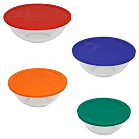 pyrex; bakeware; glassware; glass bakeware; glass mixing bowl; mixing bowl