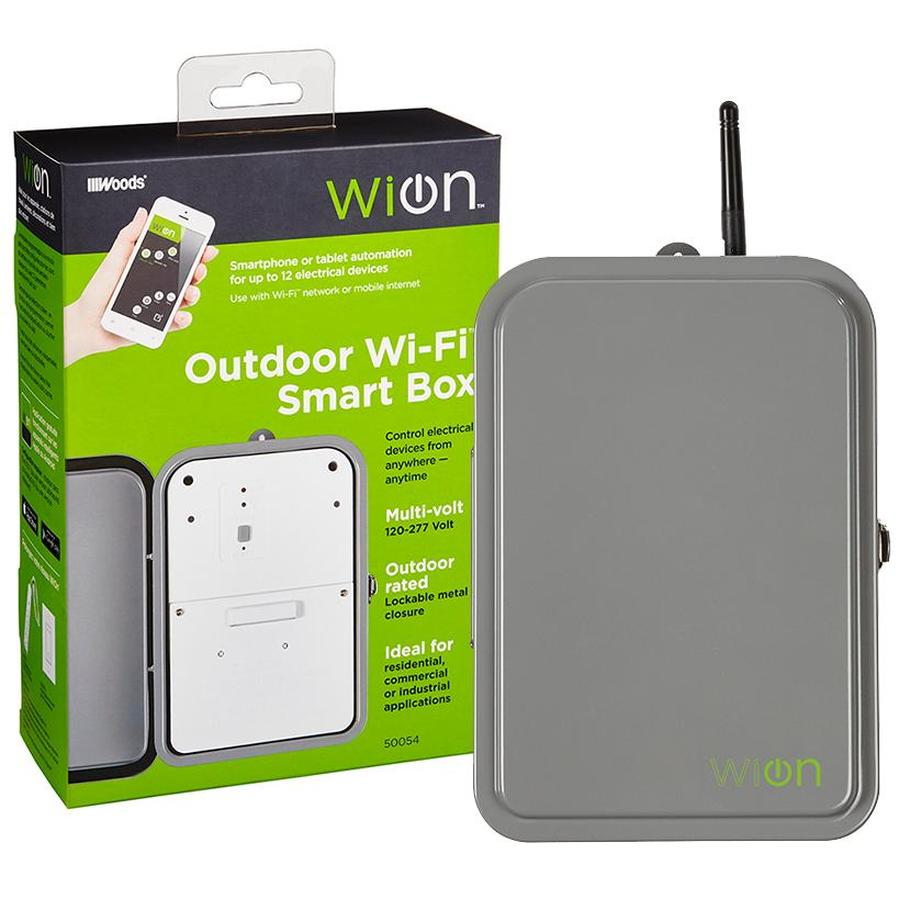 WiOn 50054 Outdoor Wi-Fi Smart Box, Wireless Time Switch ...