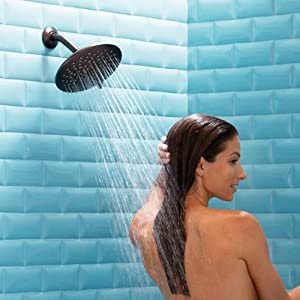 Eight-Inch Showerhead for Full-Body Showering