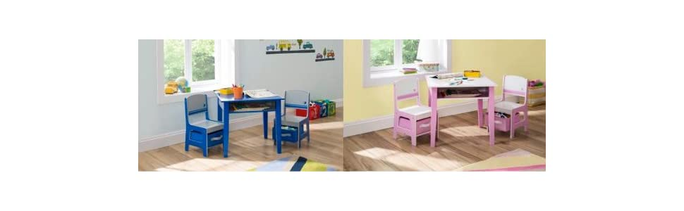 Amazon Delta Children Jack Jill Storage Table Chair Set – Girls Table and Chair