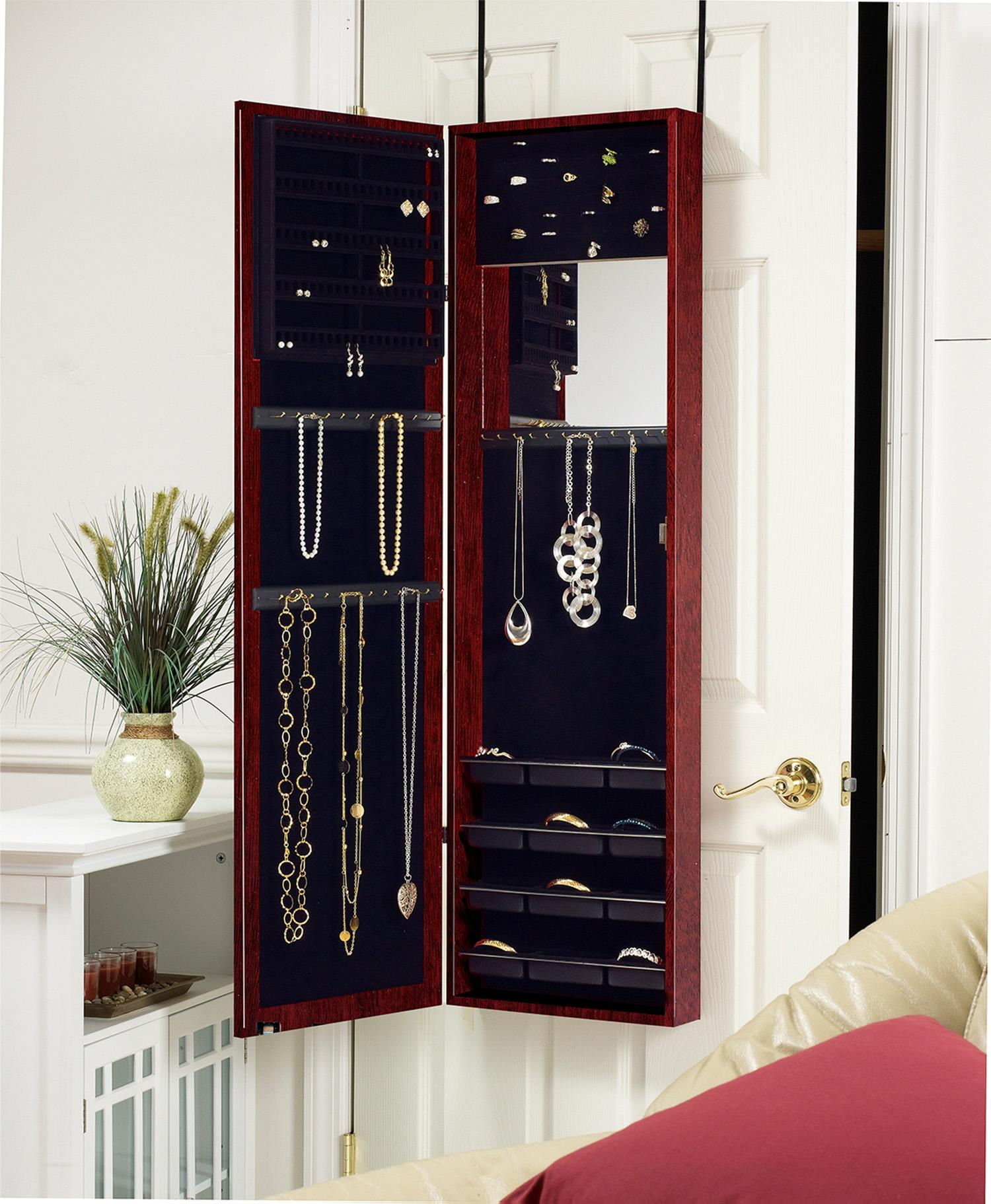 Amazon.com: Plaza Astoria Over The Door/Wall-Mount Jewelry Armoire ...