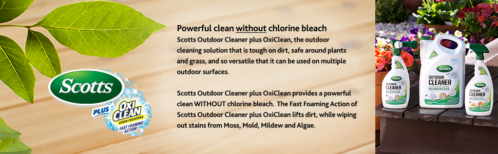 Scotts Outdoor Cleaner Plus OxiClean Stain Fighters