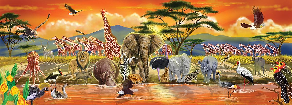 Melissa Doug African Plains Safari Jumbo Jigsaw Floor Puzzle - Melissa and doug floor puzzle