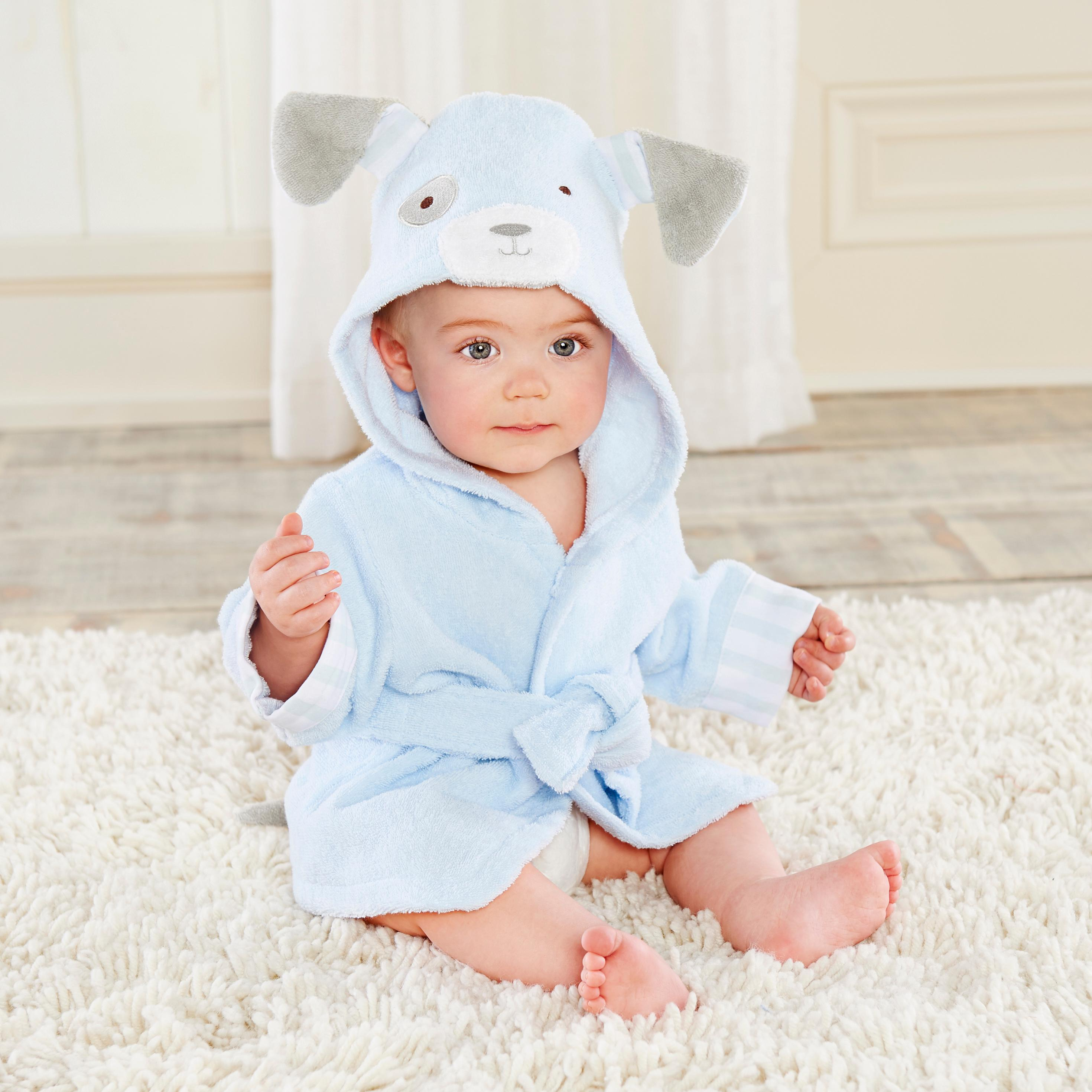 Amazon.com : Baby Aspen, Squeaky Clean Mouse Hooded Spa Robe, Gray ...