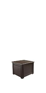 Amazon.com: Rubbermaid Cube Patio Chic Outdoor Storage, Dark Teak ...