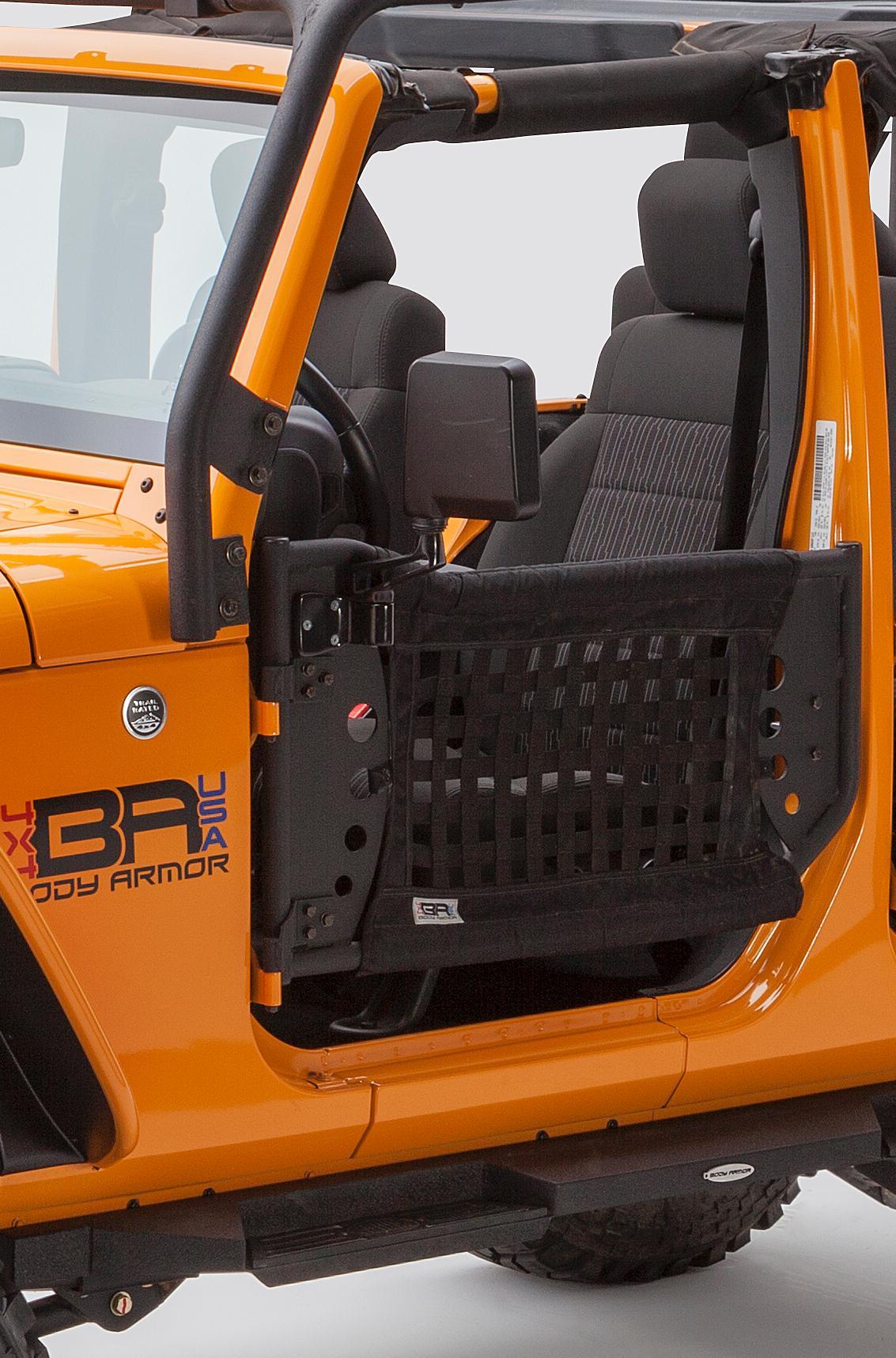 Body Armor 4x4 JK-6139 GEN 3 Black Front Trail Door for Jeep JK