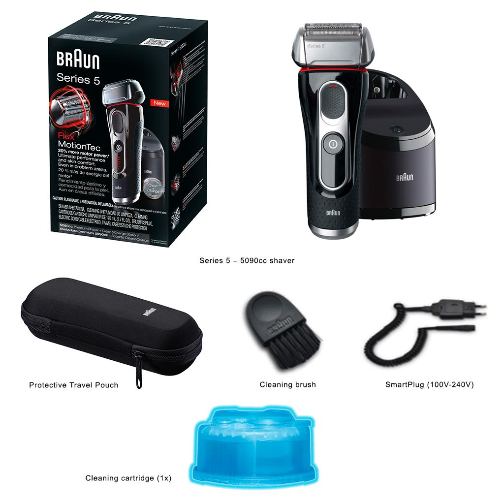 braun series 5 5190cc electric shaver with clean charge. Black Bedroom Furniture Sets. Home Design Ideas