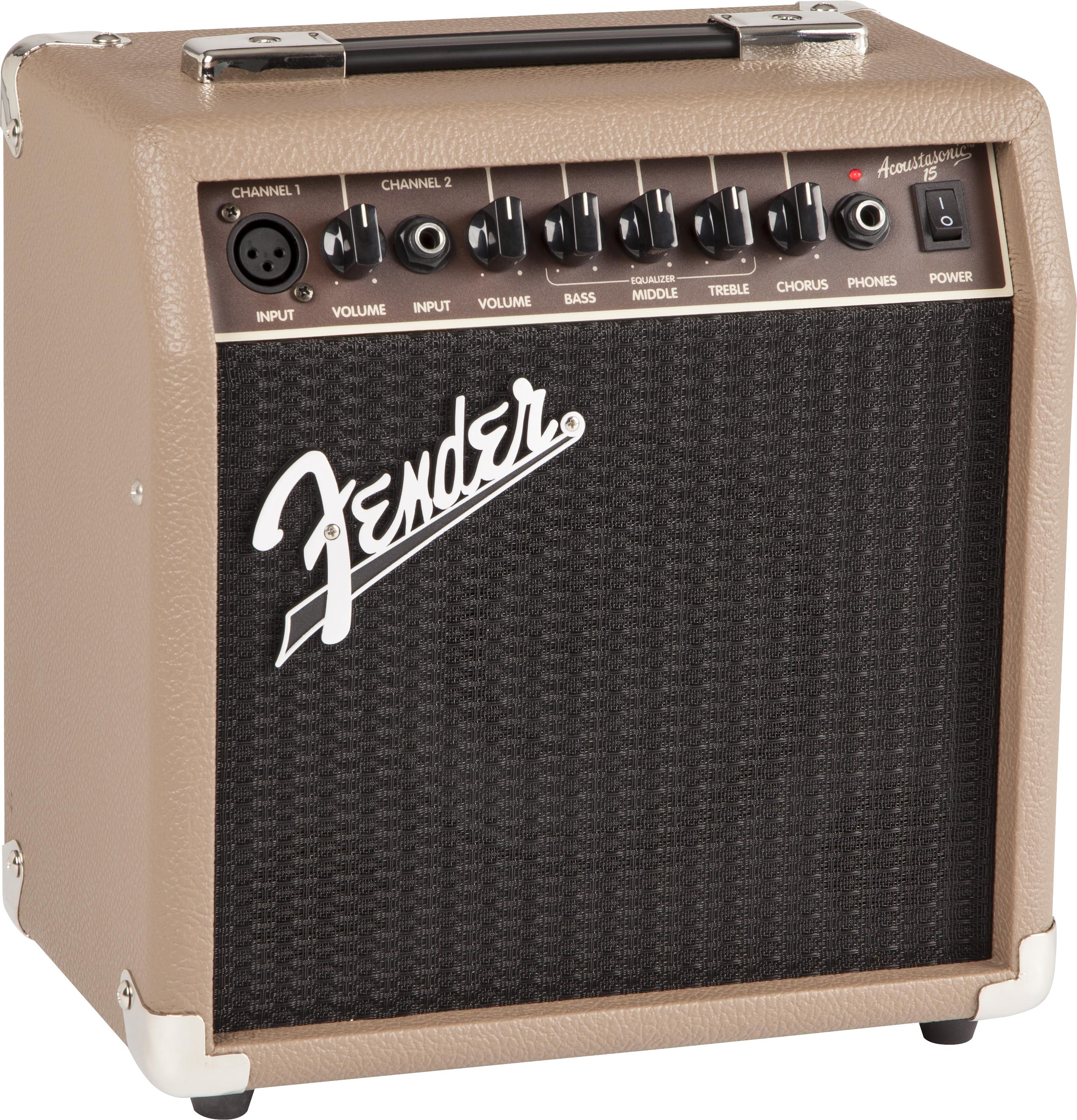 fender acoustasonic 15 15 watt acoustic guitar amplifier musical instruments. Black Bedroom Furniture Sets. Home Design Ideas