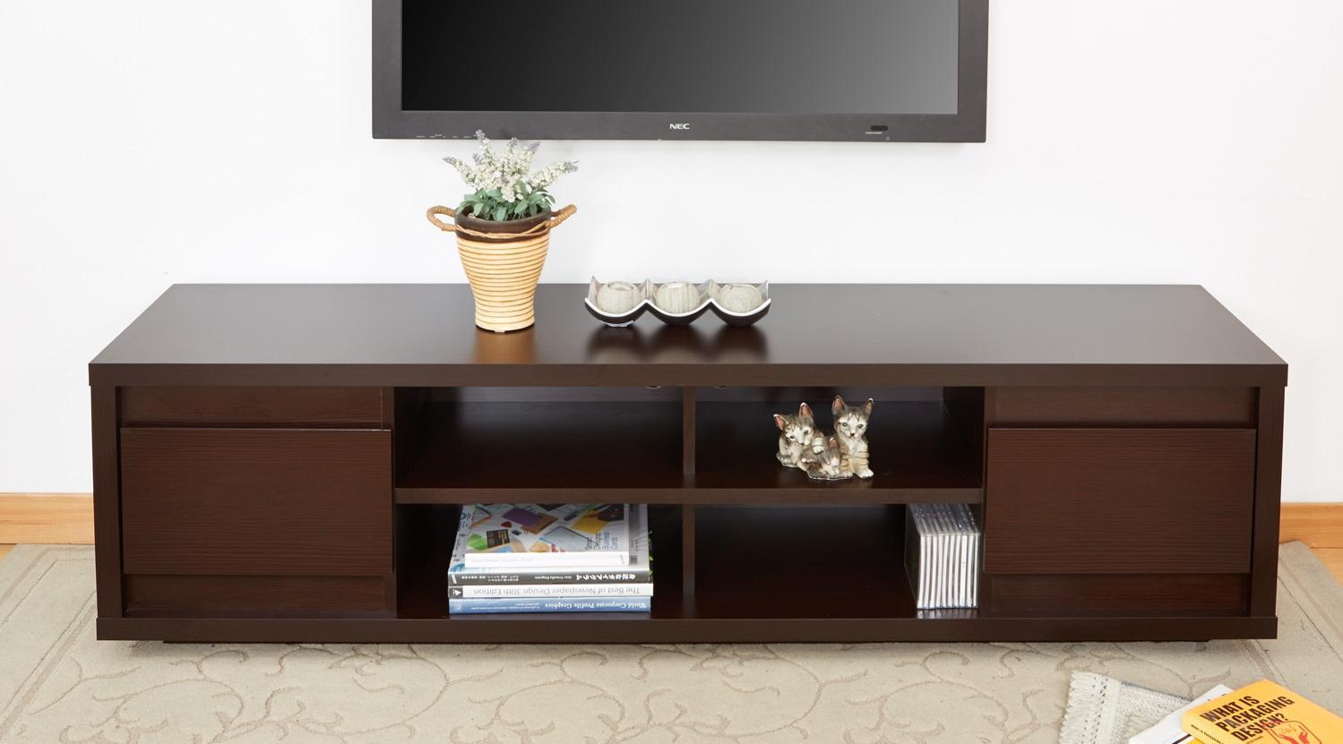 Amazon.com: ioHOMES Kirry Multi-Storage TV Stand, Walnut: Kitchen