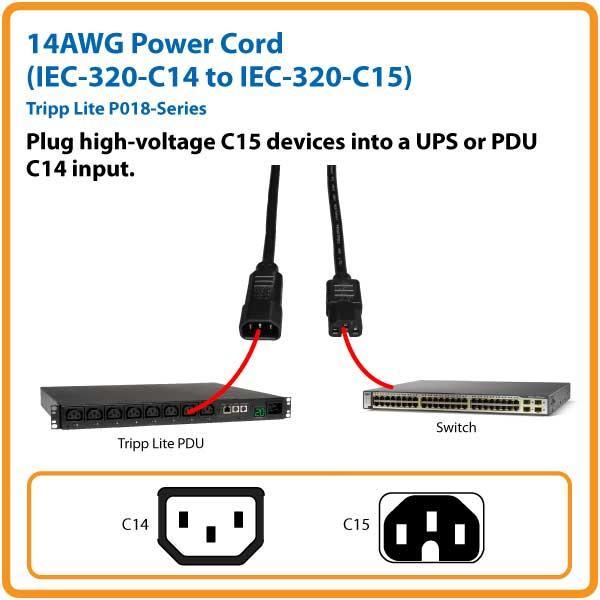 Amazon Com Tripp Lite 3ft Heavy Duty Computer Power