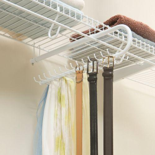 Closetmaid 8051 Tie And Belt Rack White Home Kitchen