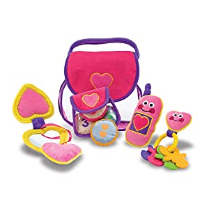 pocketbook, handbag, baby toy for girls, crinkle, keys, phone, coins, rattle