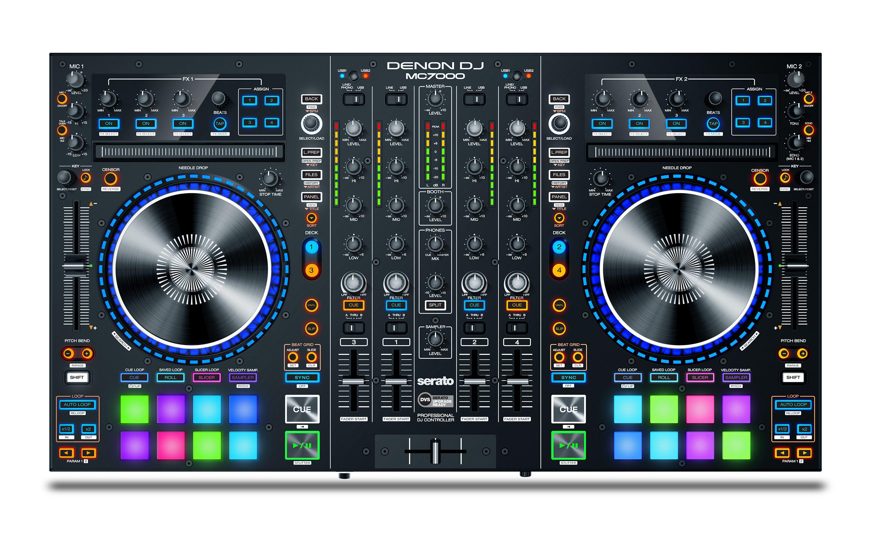 denon dj mc7000 premium 4 channel dj controller mixer with dual usb audio. Black Bedroom Furniture Sets. Home Design Ideas