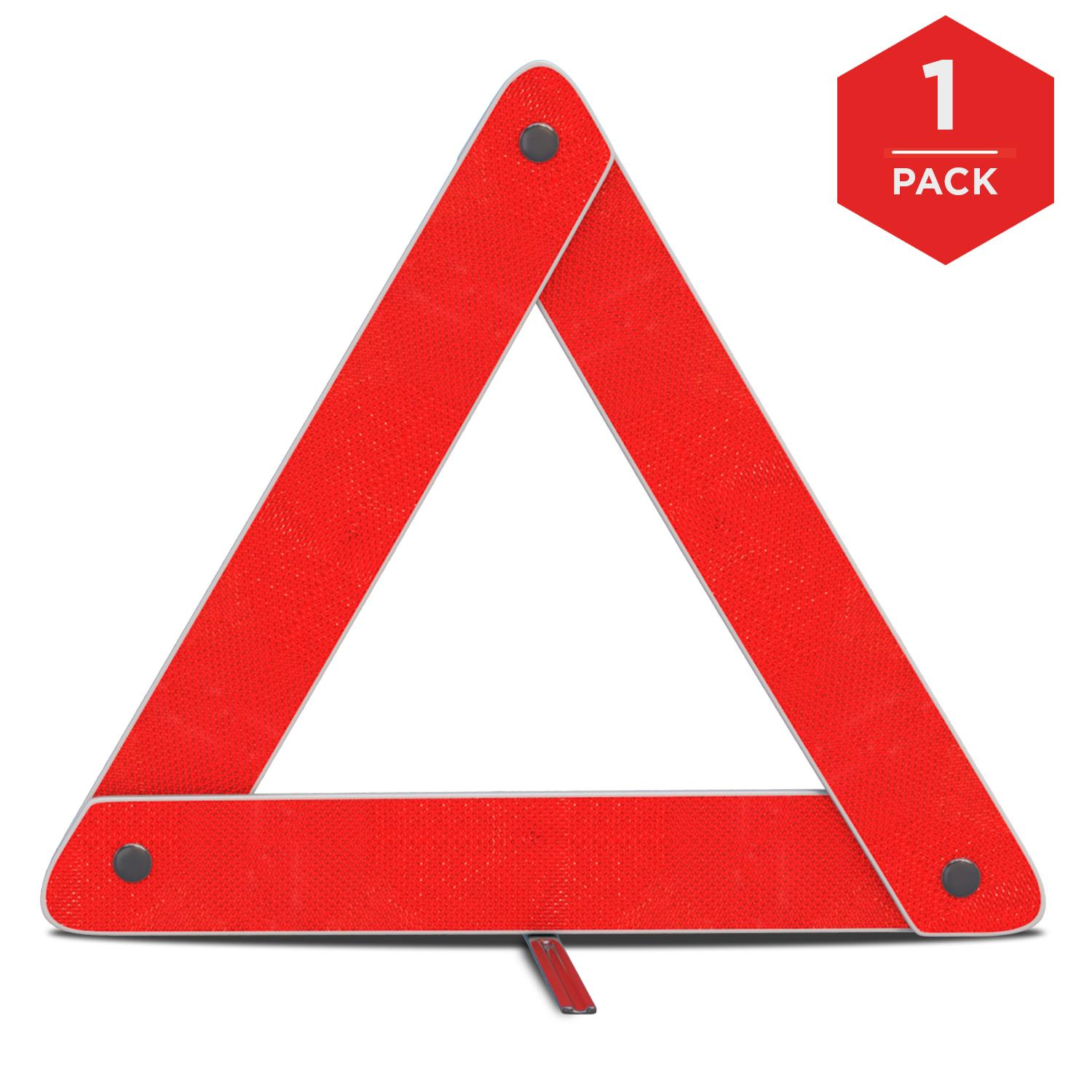 Tractor Reflective Triangles : Amazon mauto emergency warning triangle foldable