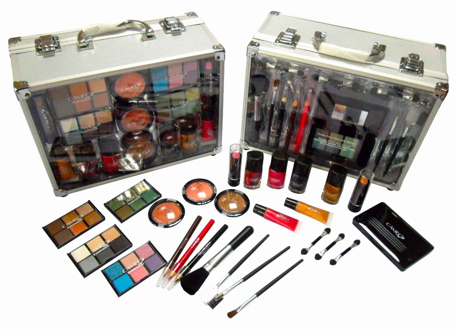 97d552e150 Amazon.com: Jumbl™ Makeup Gift Set Large Clear Case Brush Set ...