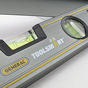 layout tool, level, digital angle finder, connected tools, angle finder, toolsmart, protractor