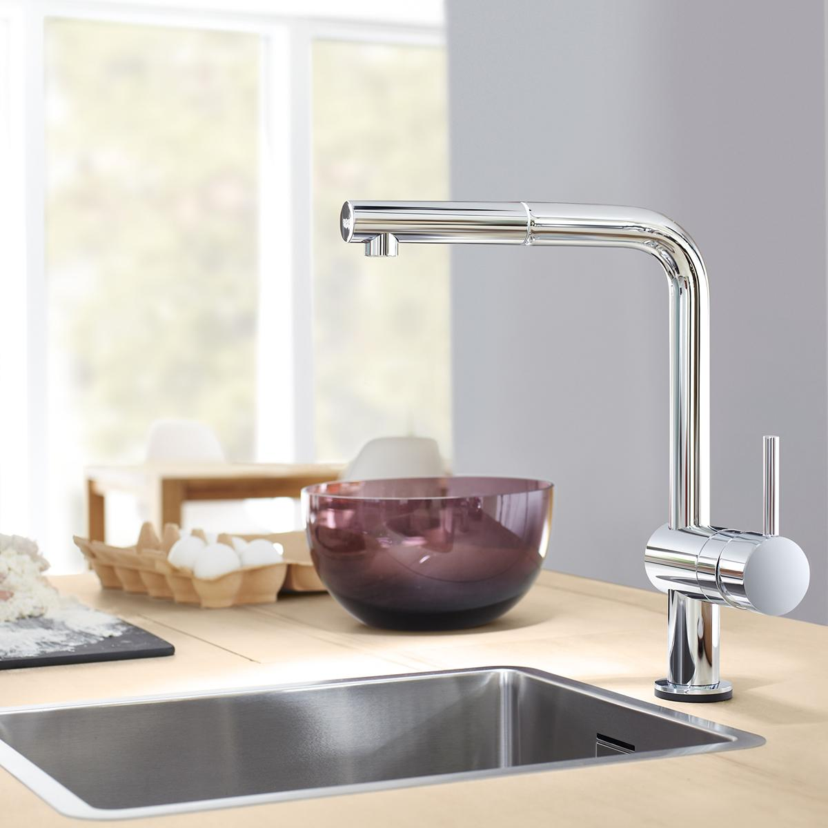 Grohe  Minta Touch Pullout Kitchen Faucet Starlight - Amazon grohe kitchen faucets
