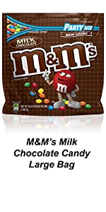 Bring M&M'S Candy to the party in a large candy bags to keep guests satisfied.