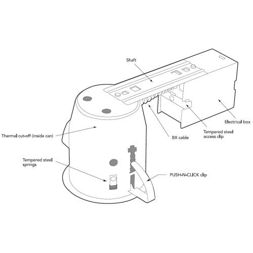 amazon com  globe electric 4 u0026quot  damp rated shower recessed