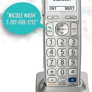 Panasonic KX-TGE262S - Talking Caller ID