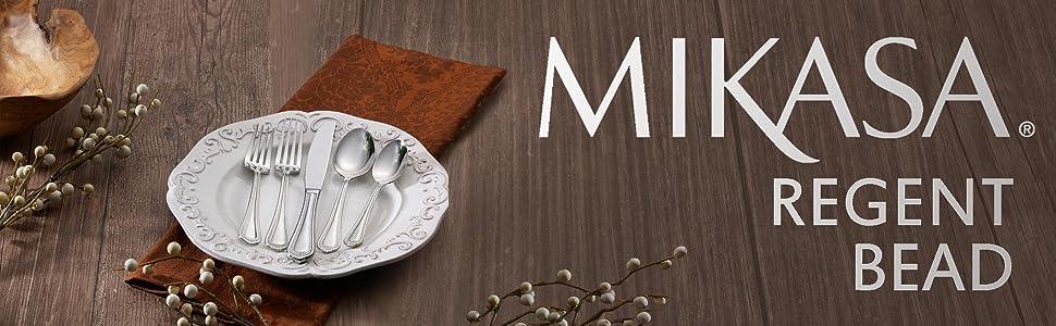 mikasa regent bead, dinnerware sets, flatware, serveware, fine china sets, dishes