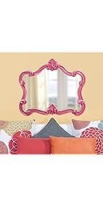 Howard Elliott Veruca Mirror in Glossy Hot Pink Finish