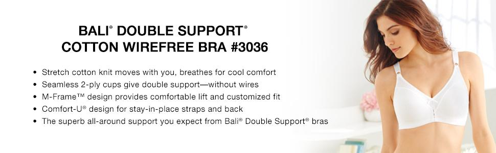 Bali Women's Double-Support Cotton Wire-Free Bra #3036 at Amazon ...