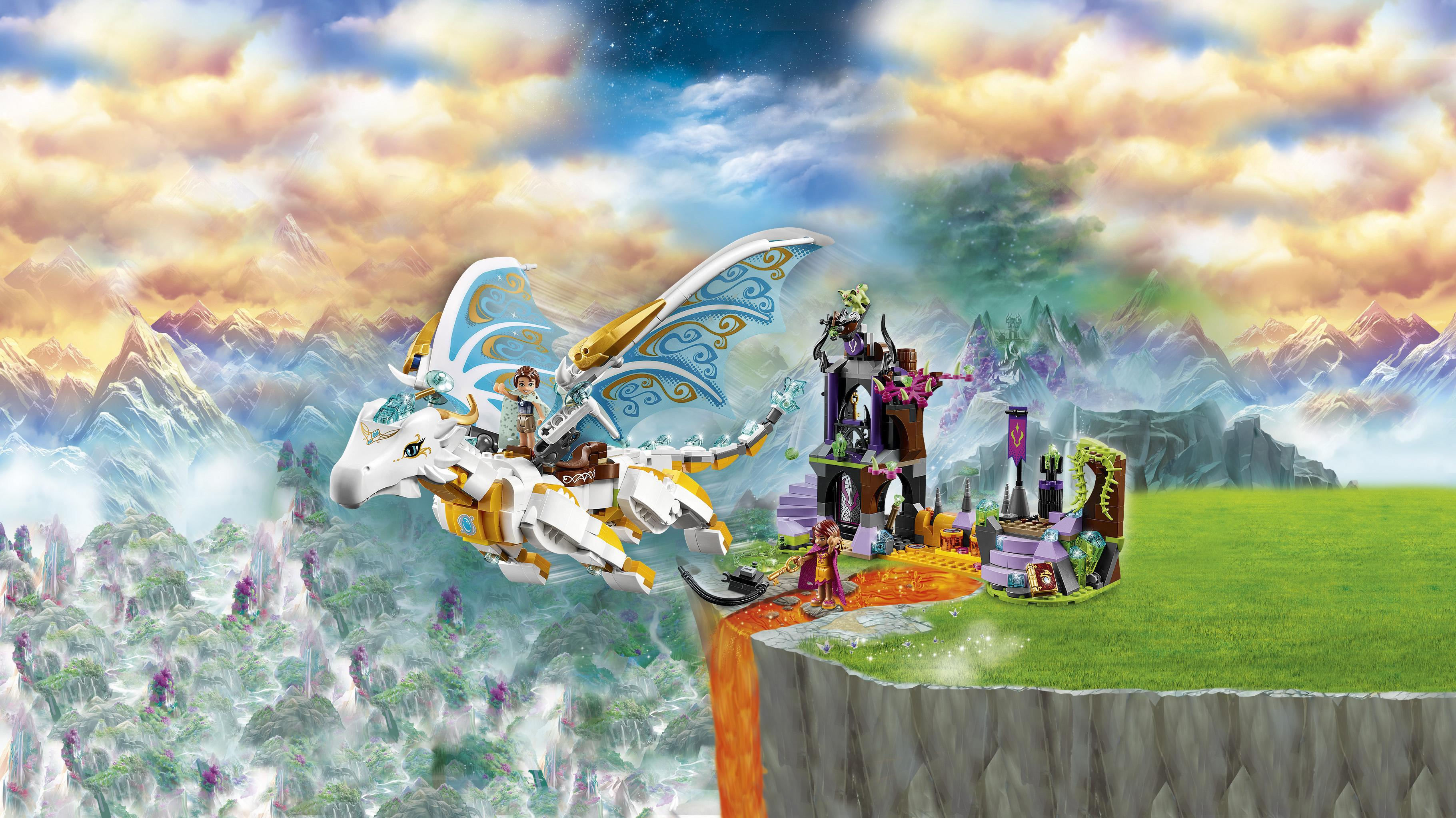 lego elves queen dragon 39 s rescue 41179 creative play toy for 9 to 12