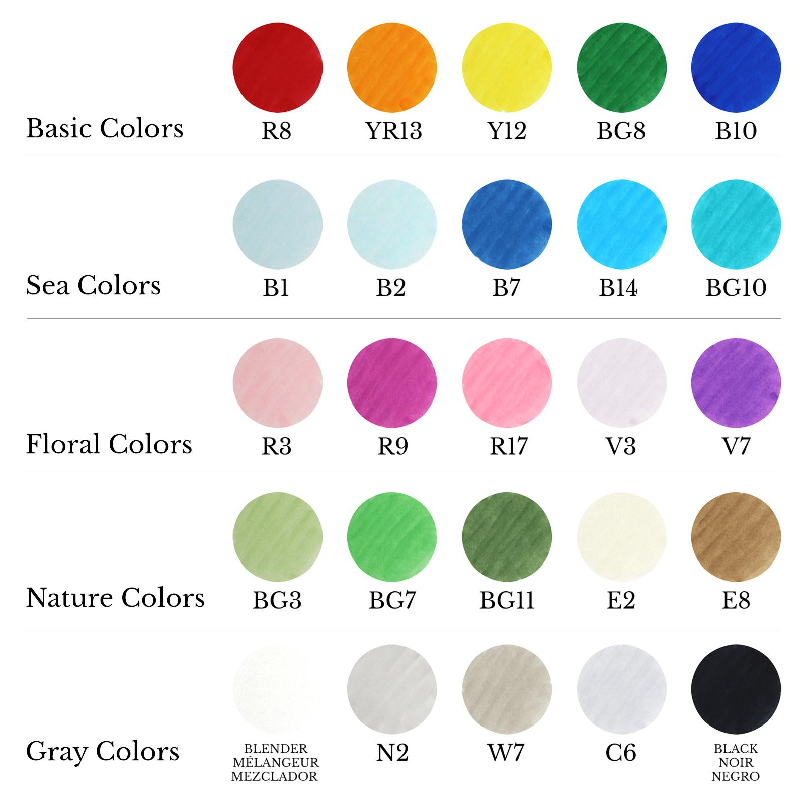 Game color chart - Color Chart