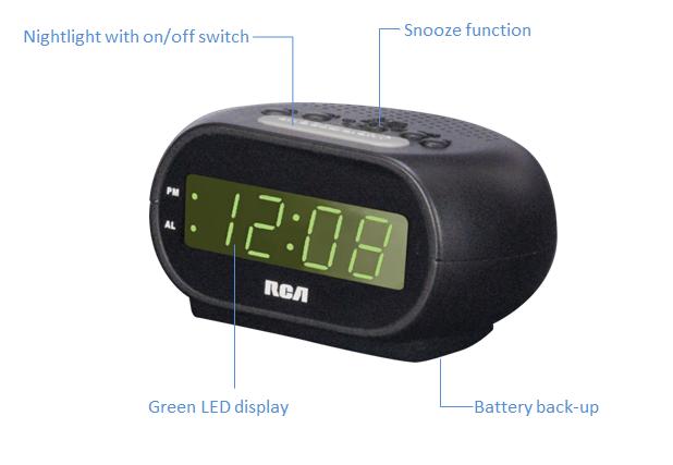 Rca Digital Alarm Clock With Night Light Home