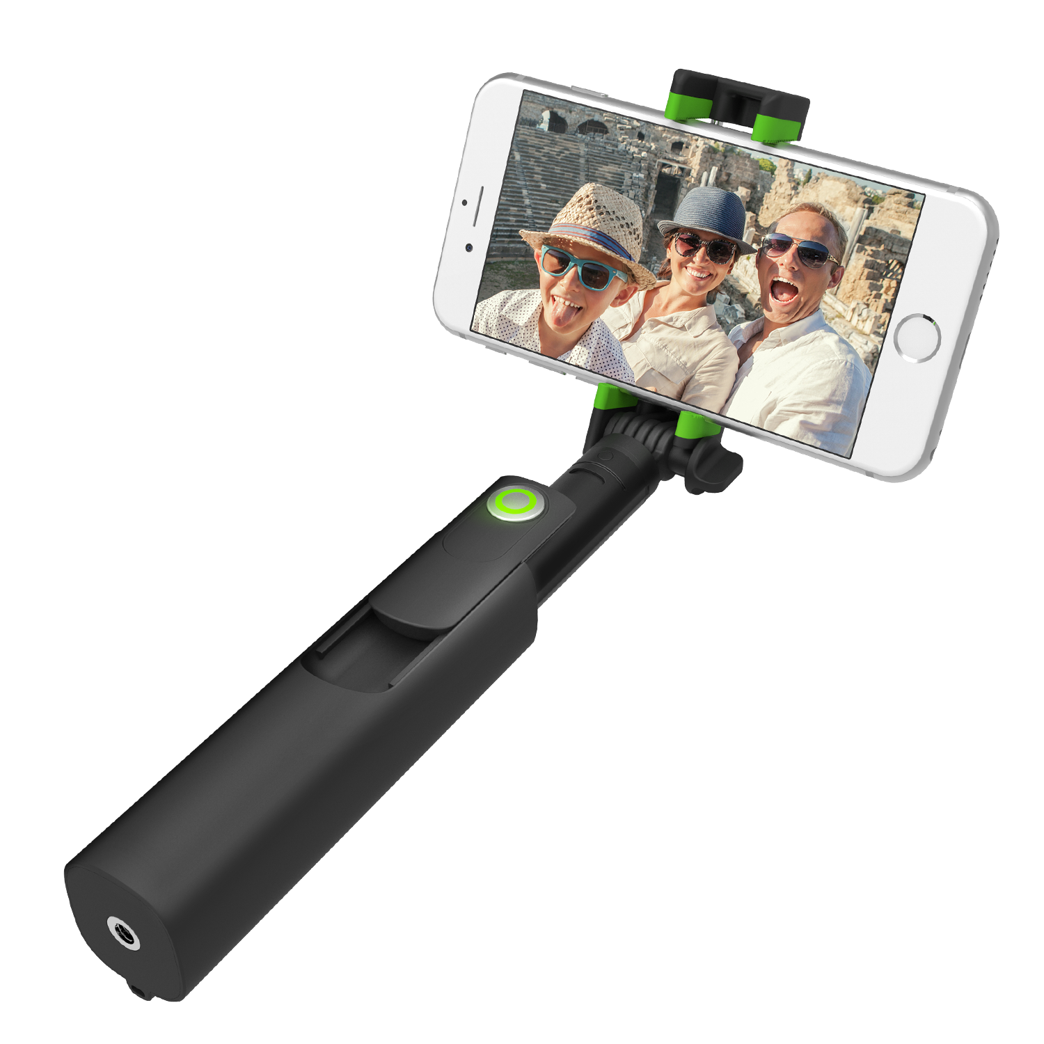 iottie migo mini selfie stick gopro pole with detachable bluetooth remote shutter. Black Bedroom Furniture Sets. Home Design Ideas