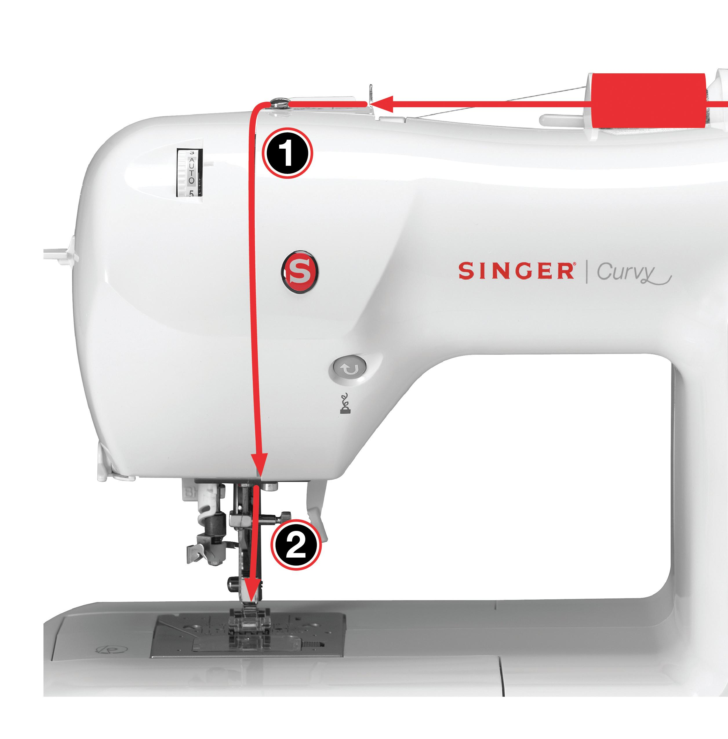 how to thread a singer curvy sewing machine