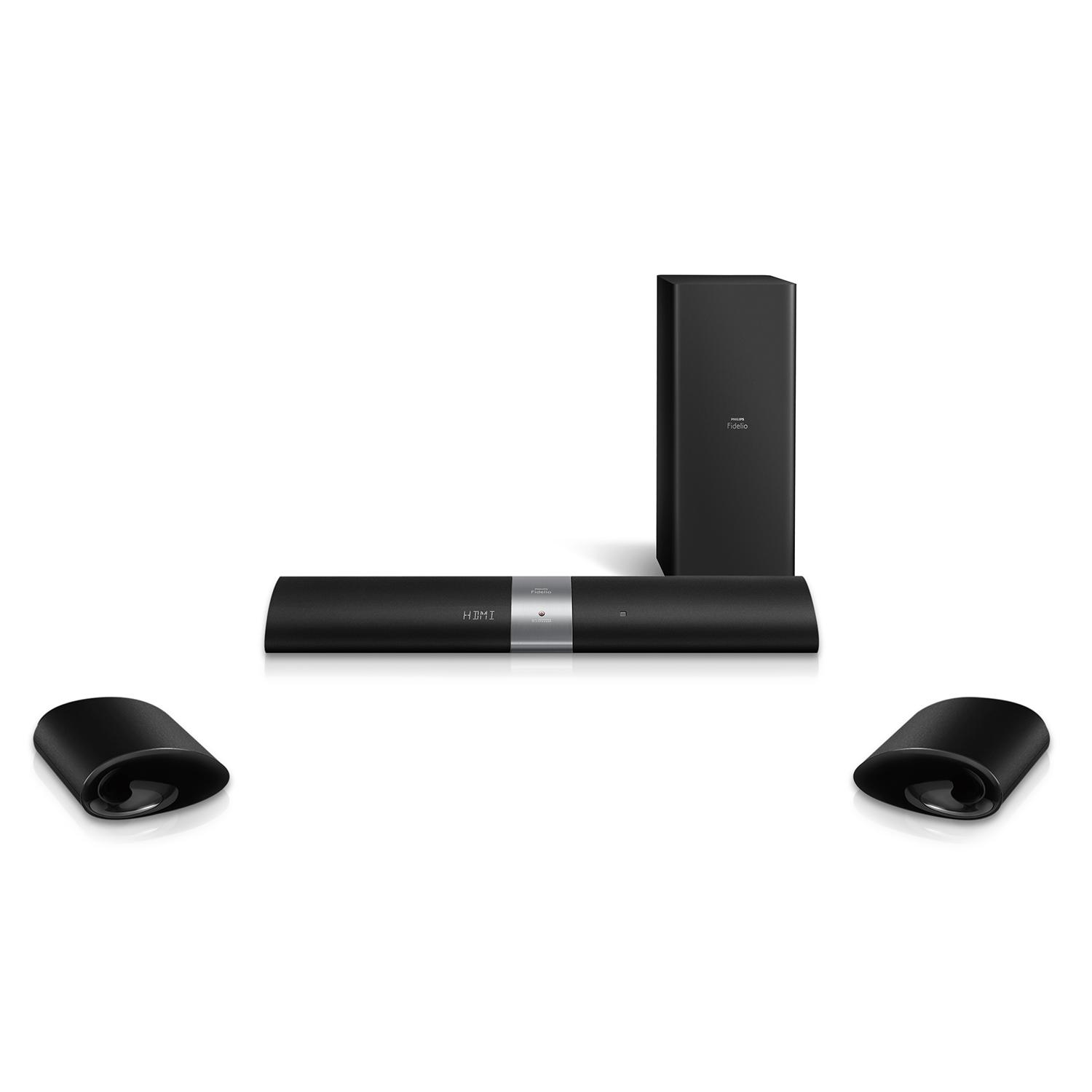 philips b5 37 fidelio soundbar speaker black home audio theater. Black Bedroom Furniture Sets. Home Design Ideas