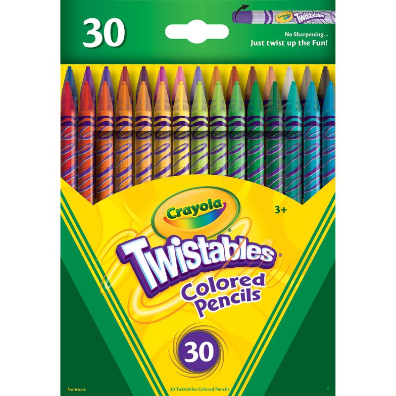 Amazon.com: Crayola Twistables Colored Pencils, 30 Assorted Colors ...