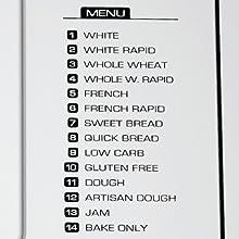14 Pre-Programmed Bake Settings