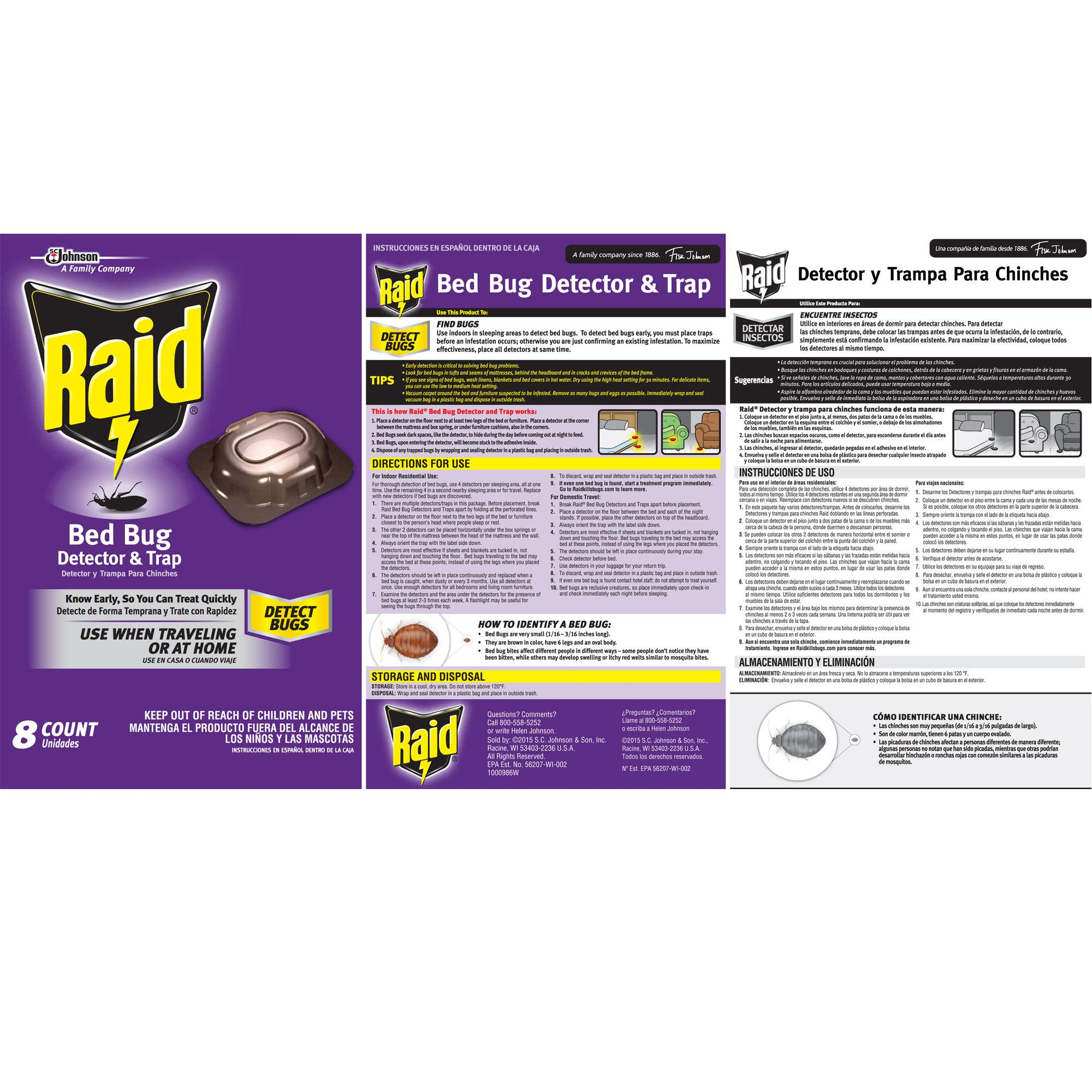 Amazon Com Raid Bed Bug Detector And Trap 8 0 Count