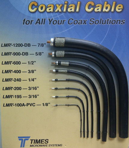 Times Microwave LMR-400 LOW LOSS RG-8 Coaxial Cable 100 Feet Length