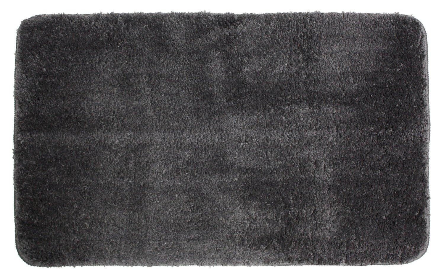 Amazon Com J Amp M Home Fashions Microfiber Bath Rug Dark