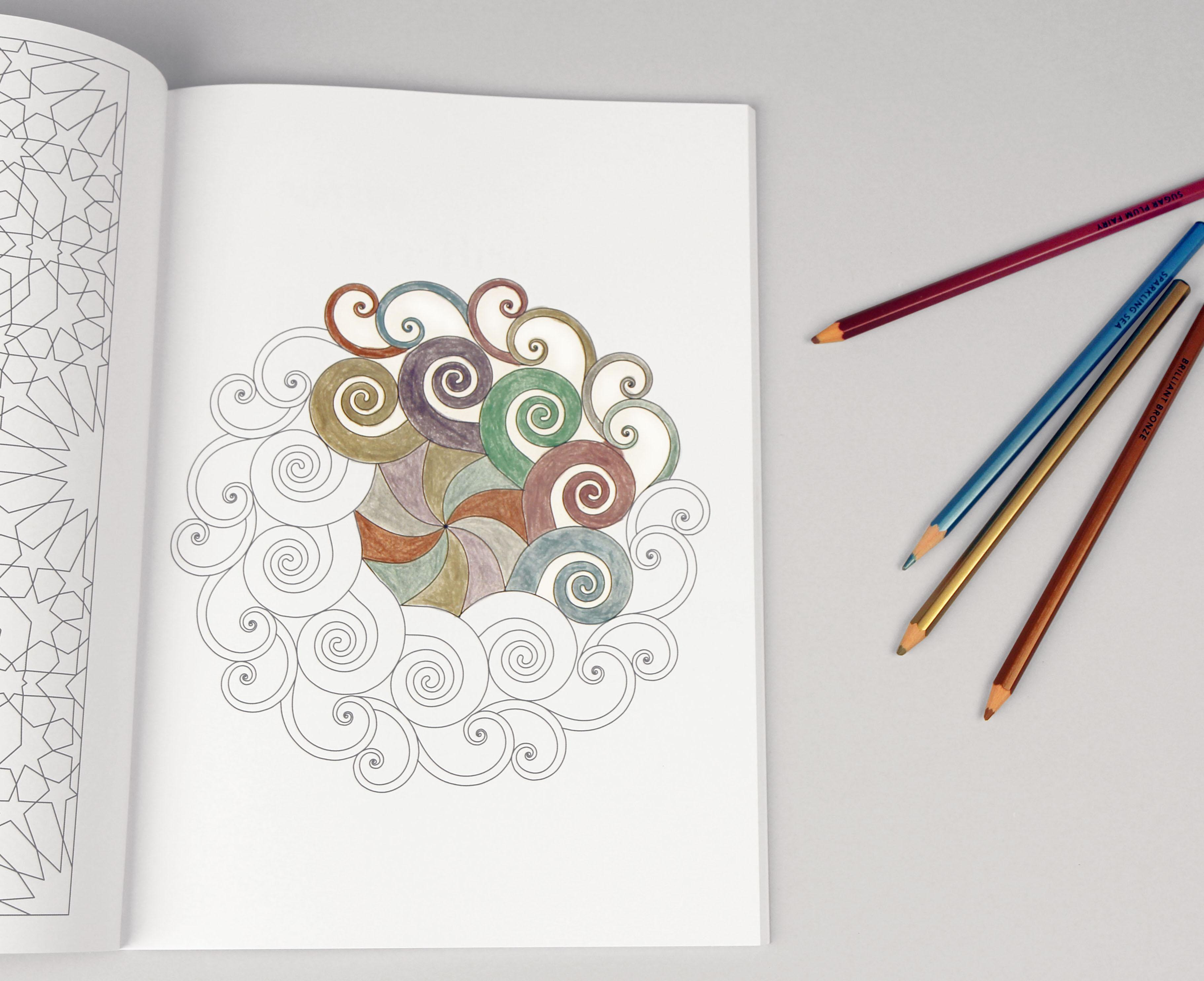 Modern Meditation Coloring Book with Bright Ideas Metallic Colored ...