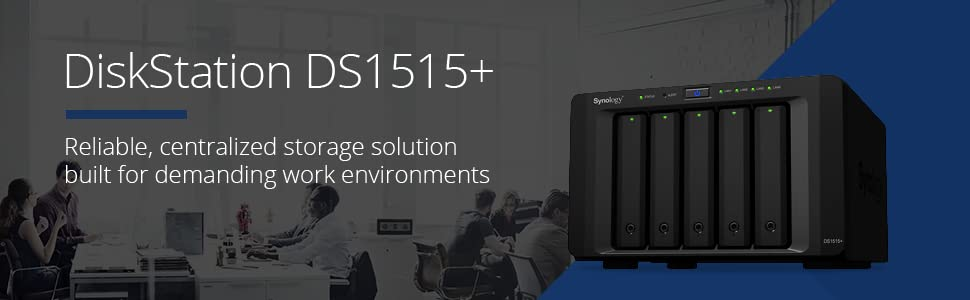 Synology, DiskStation, DS1515+, NAS, network-attached storage, data storage, private cloud