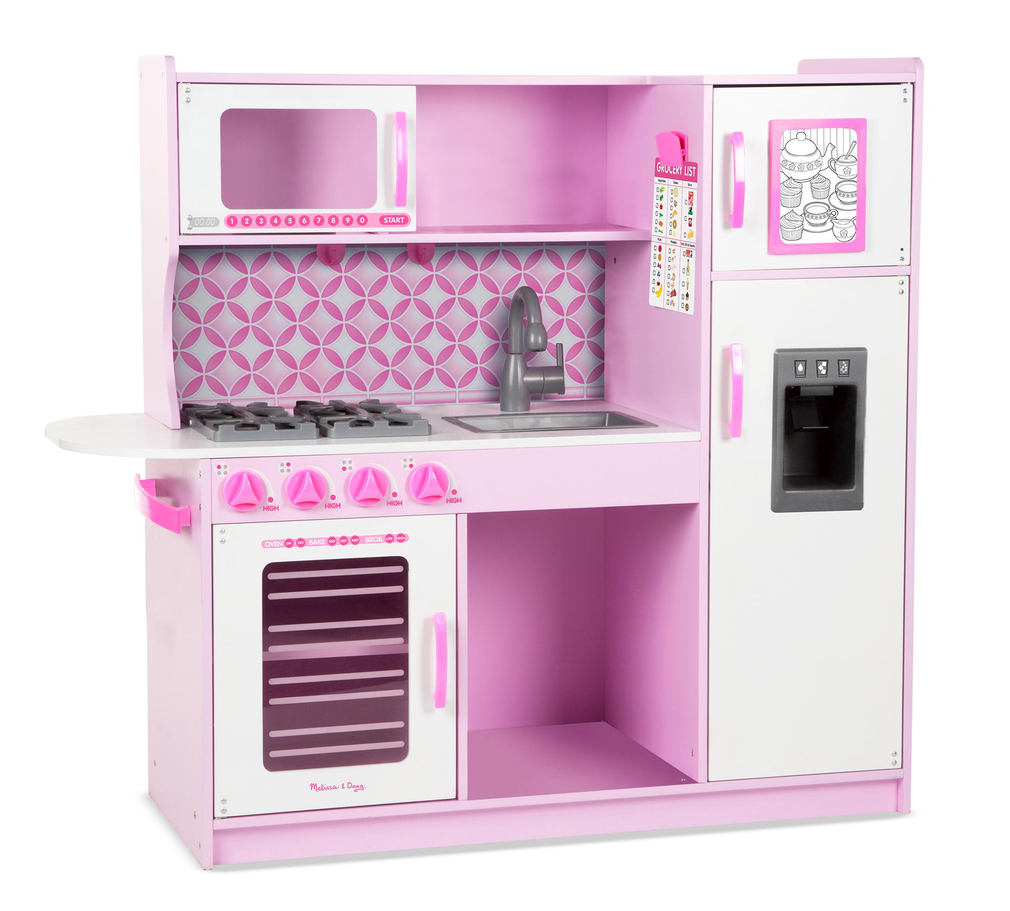 Melissa doug chef 39 s kitchen pretend play set for Kitchen set games