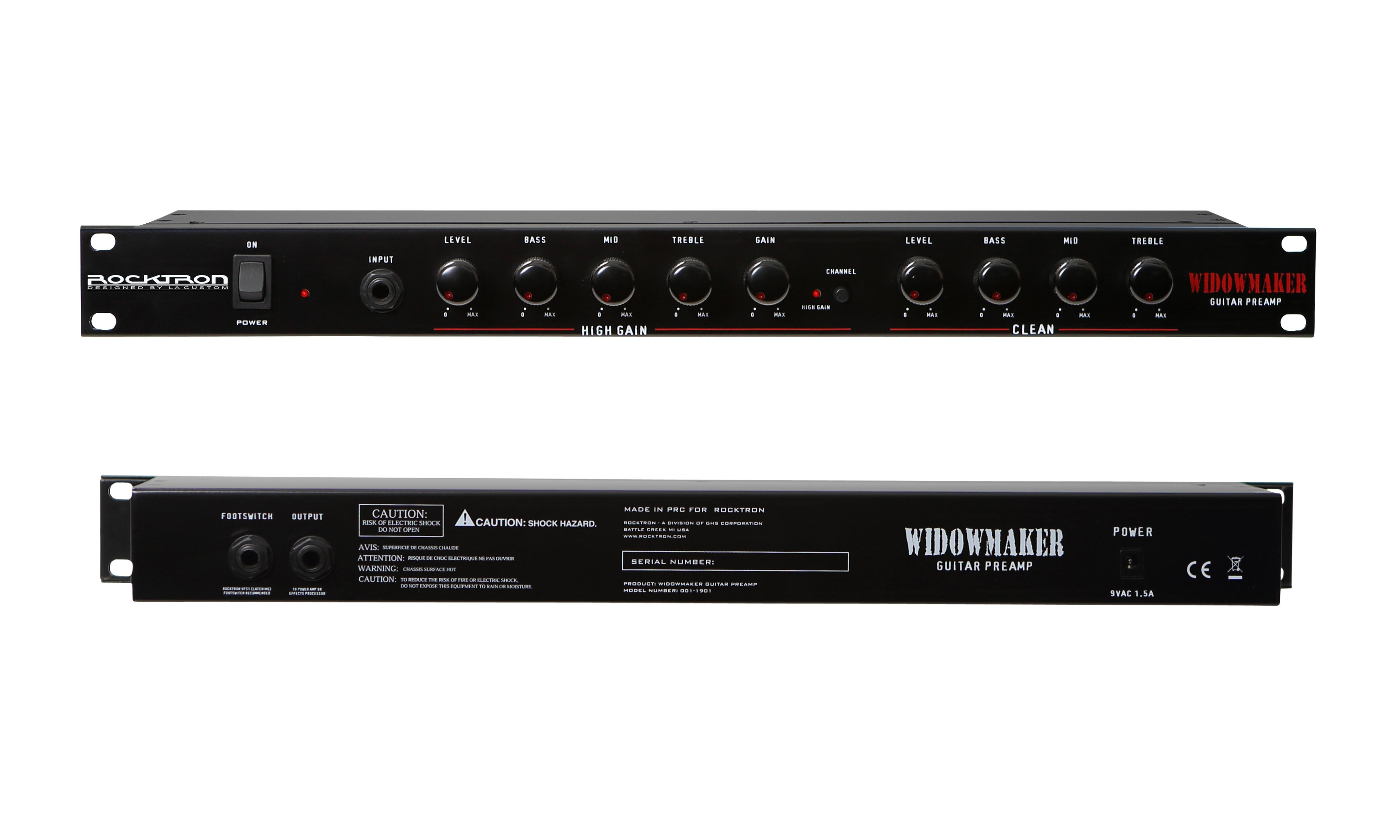 rocktron widowmaker guitar preamp rack mount musical instruments. Black Bedroom Furniture Sets. Home Design Ideas