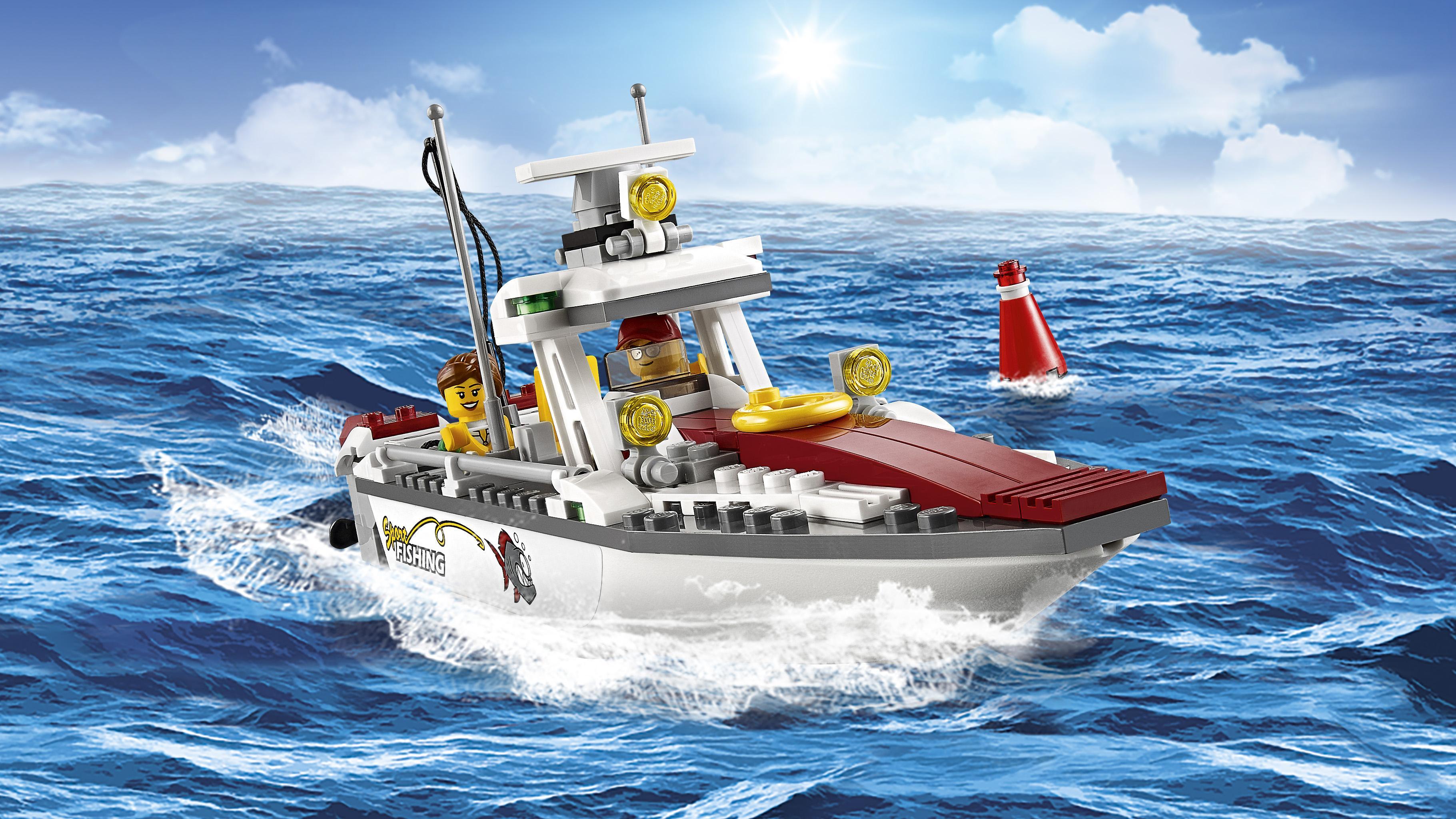 Amazon.com: LEGO City Fishing Boat 60147 Creative Play Toy ...
