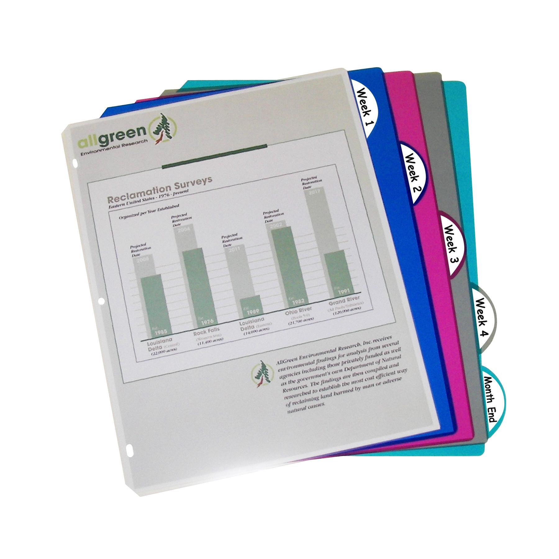 Amazon.com : C-Line Polypropylene Binder Index Dividers
