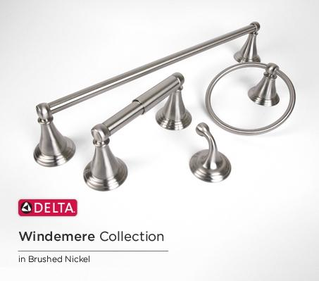Delta Faucet 79646-BN Windemere Towel Ring, SpotShield Brushed ...