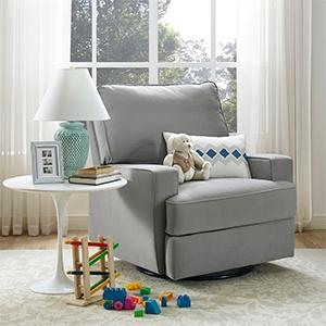 Baby Relax Rylan Swivel Gliding Recliner Nursery Room