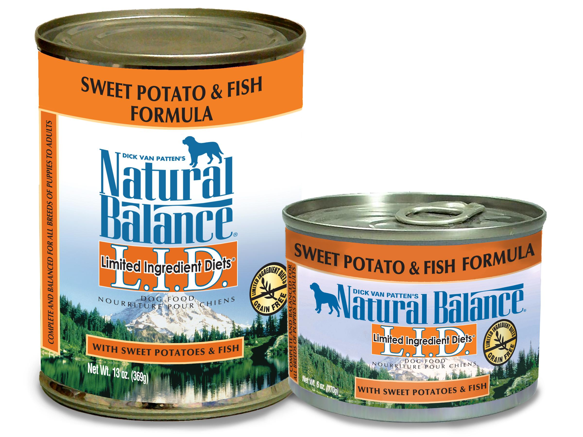 Natural balance l i d limited ingredient diets canned wet for Natural balance sweet potato and fish